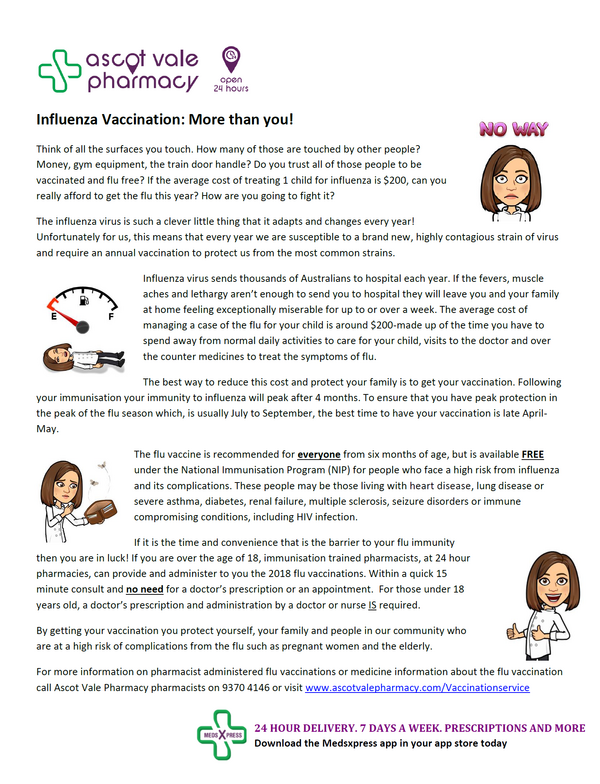 Influenza Vaccination: More Than You!